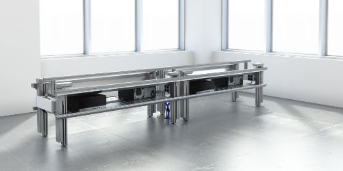 Cima Hybrid - Linear benching with height adjustable desks