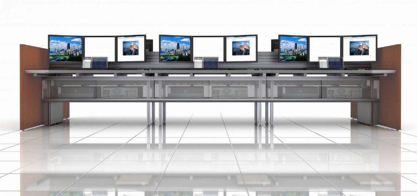Trading Desks 3 monitors