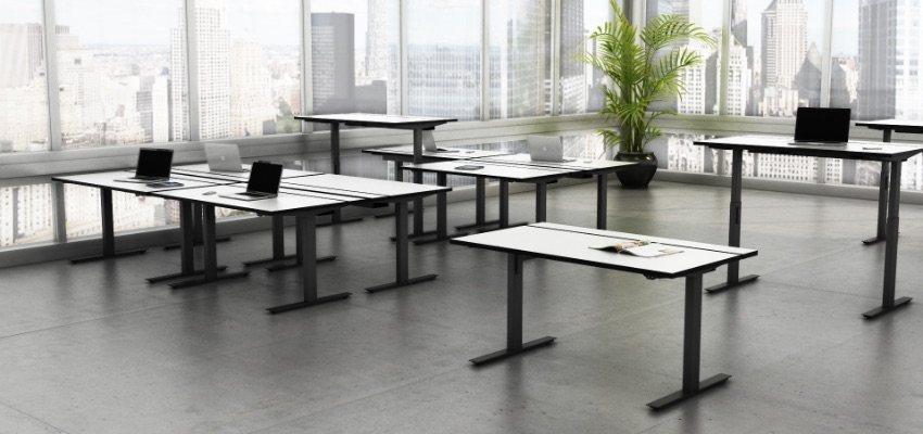 Open Office Sit Stand Desks Black
